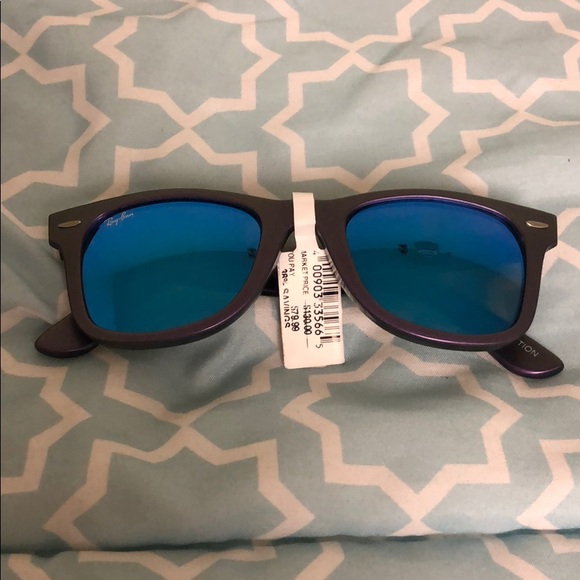 39a5d5ccb00 Ray Ban Wayfarer Purple Sunglasses Cosmo